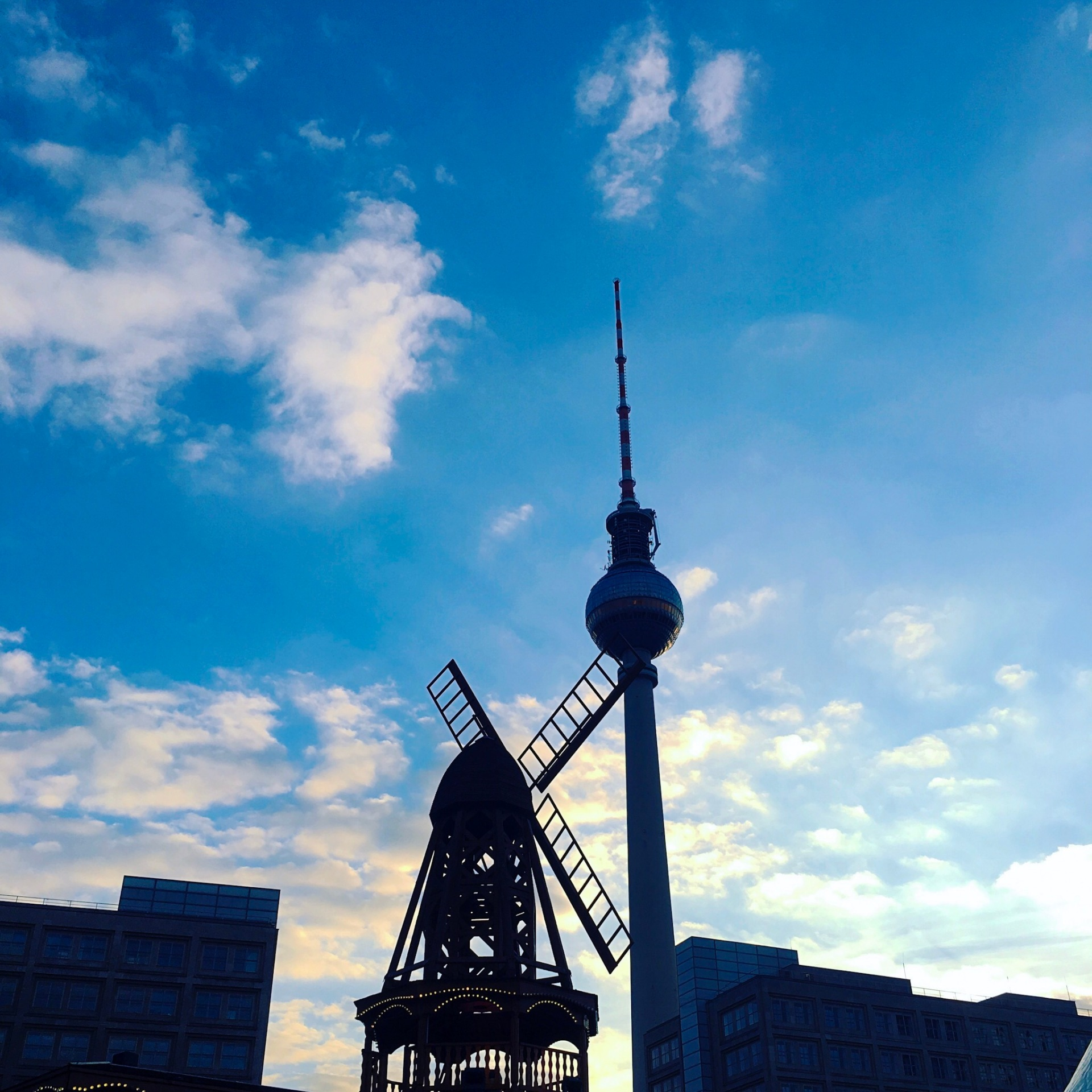 Berlin TV tower silhouette