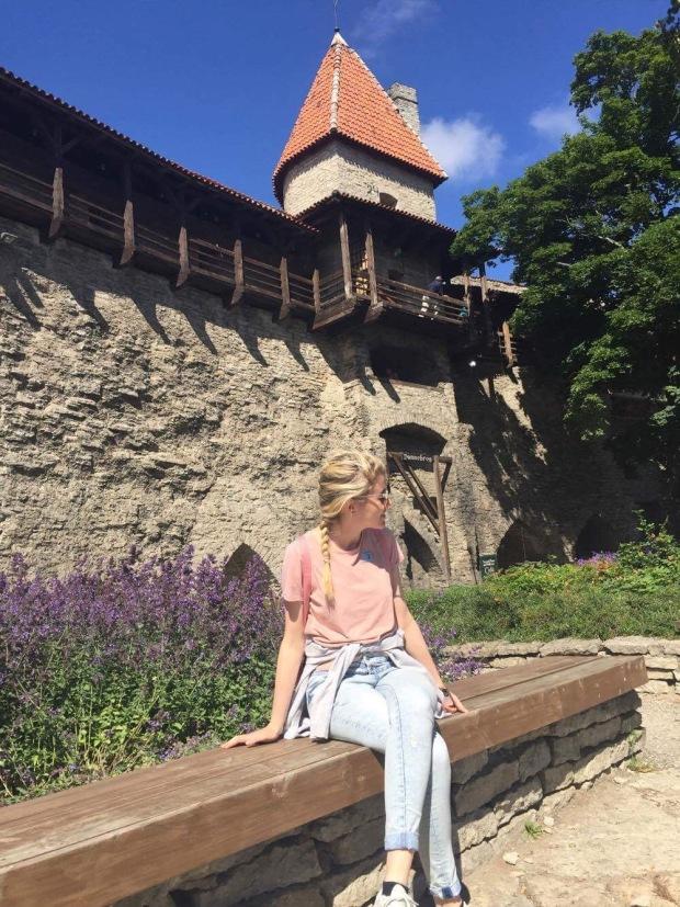 Wandering around the old medieval town of Tallinn, Estonia