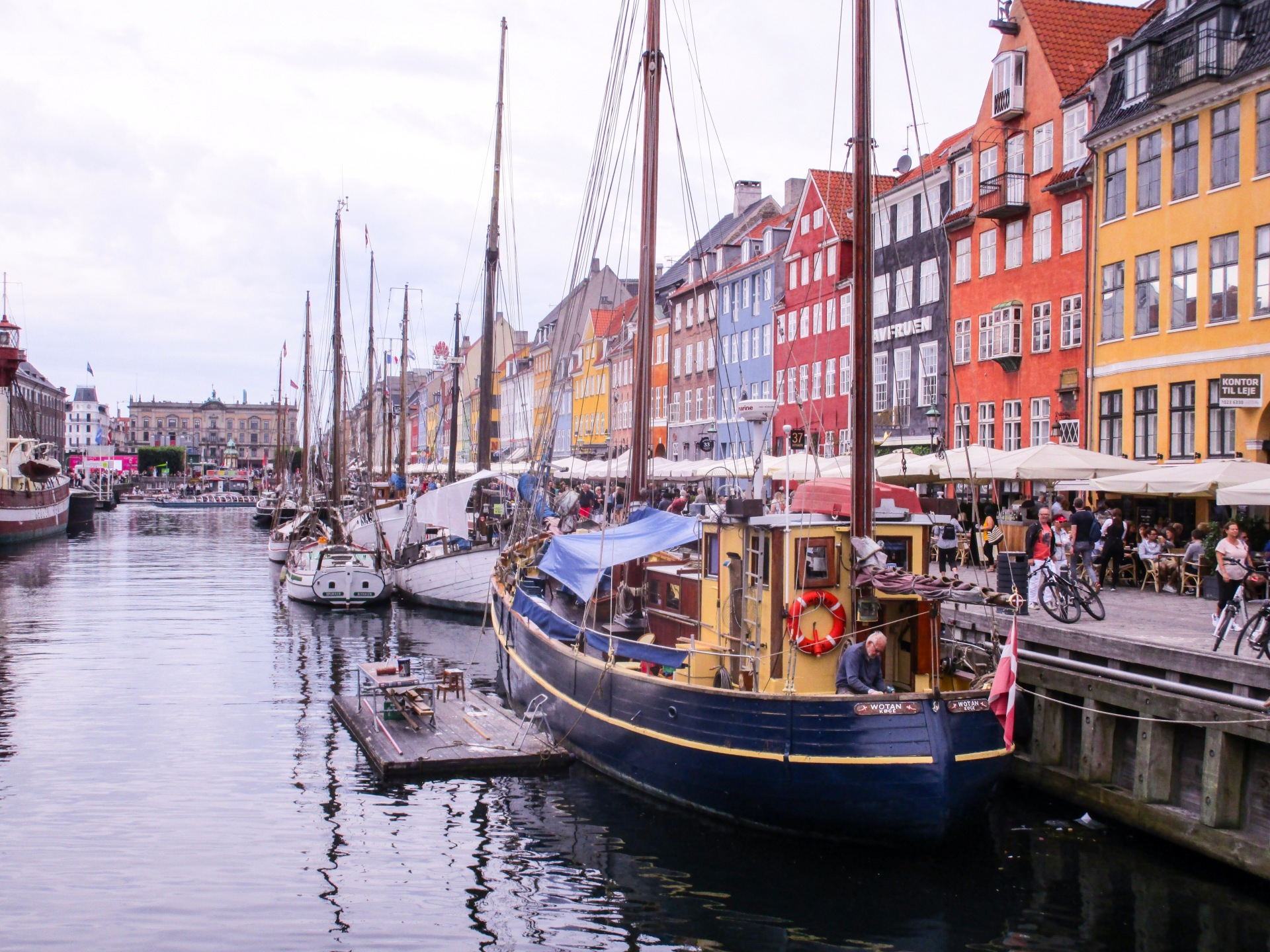 Coloured buildings at Nyhavn, Copenhagen
