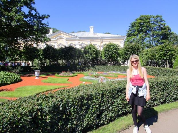 At the Peterhof palace, near St Petersburg, Russia