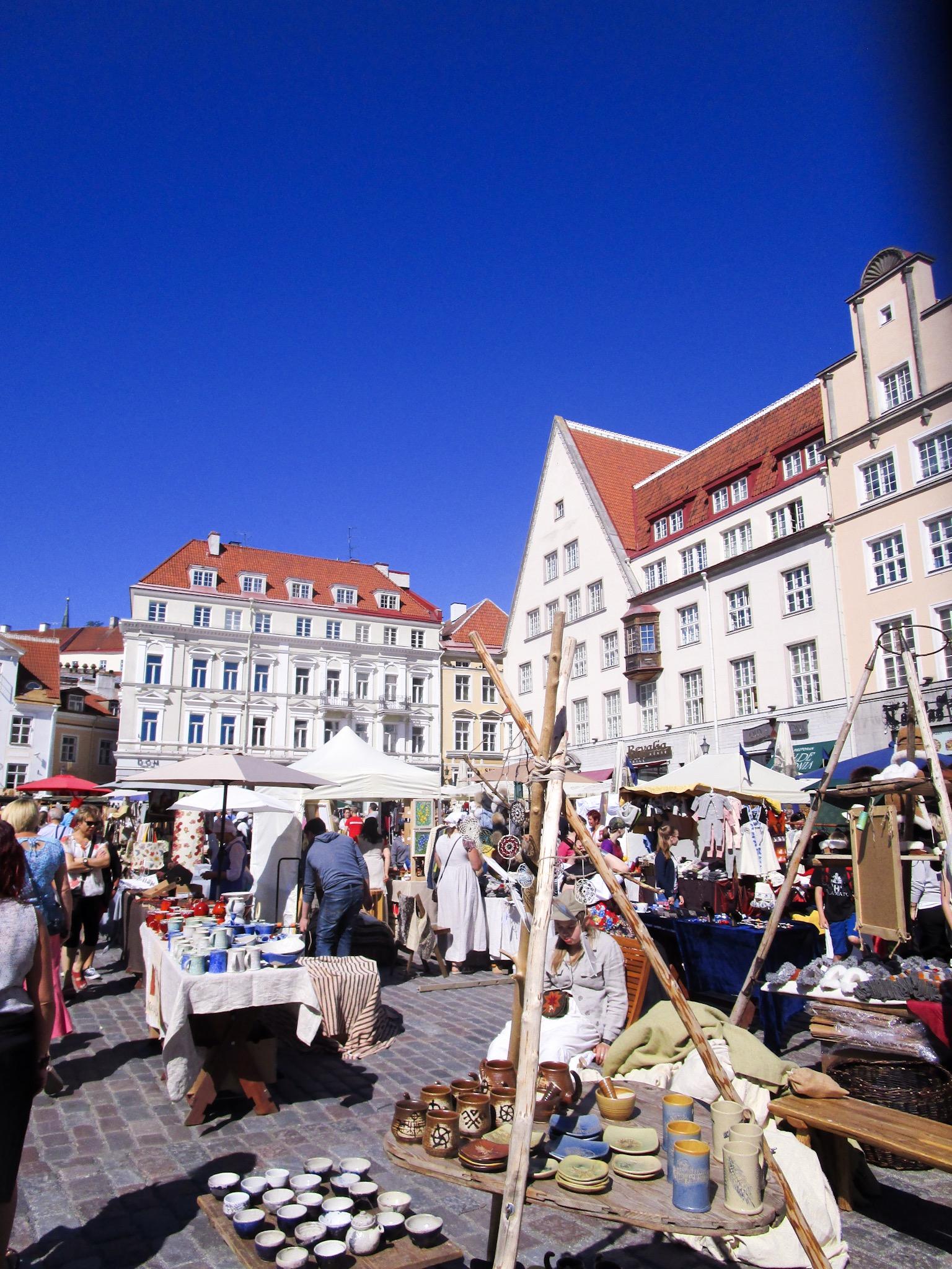 Marketplace in Tallinn, Estonia