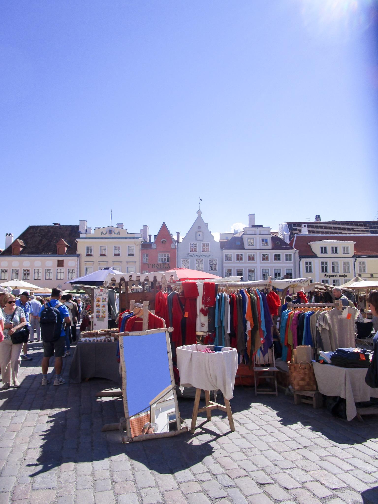 Old town Tallinn marketplace