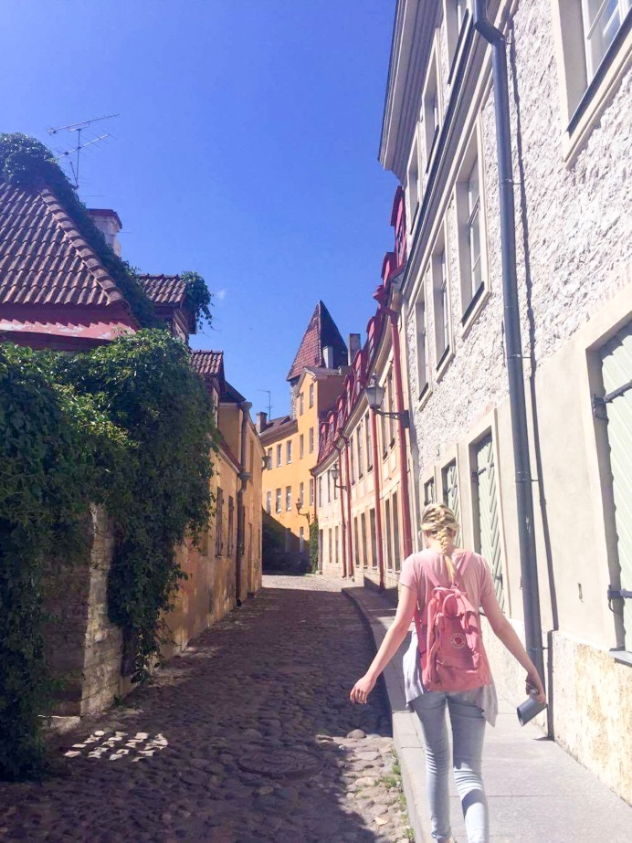 Wandering through the streets of Tallinn