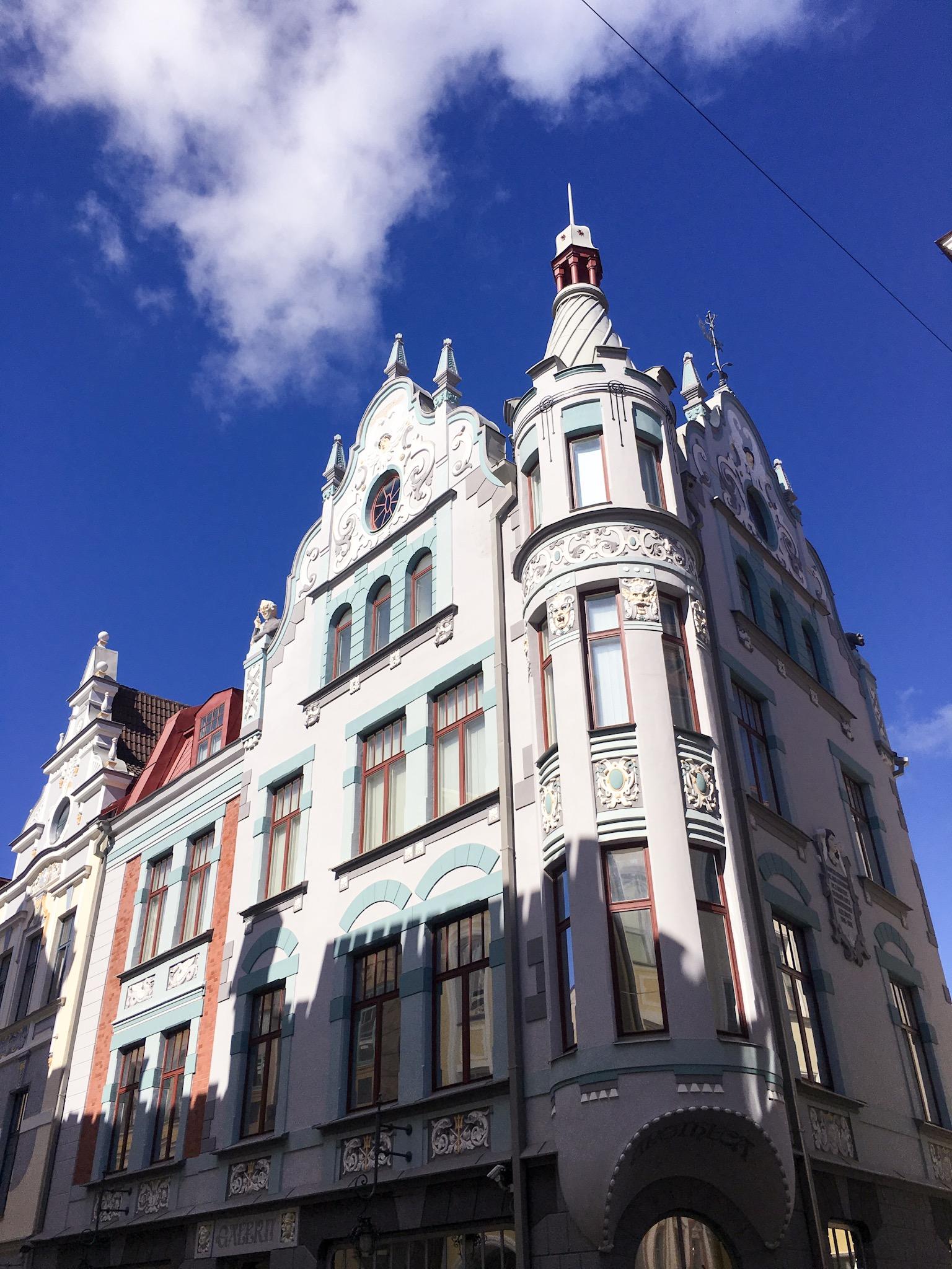 Pretty building in Tallinn, Estonia