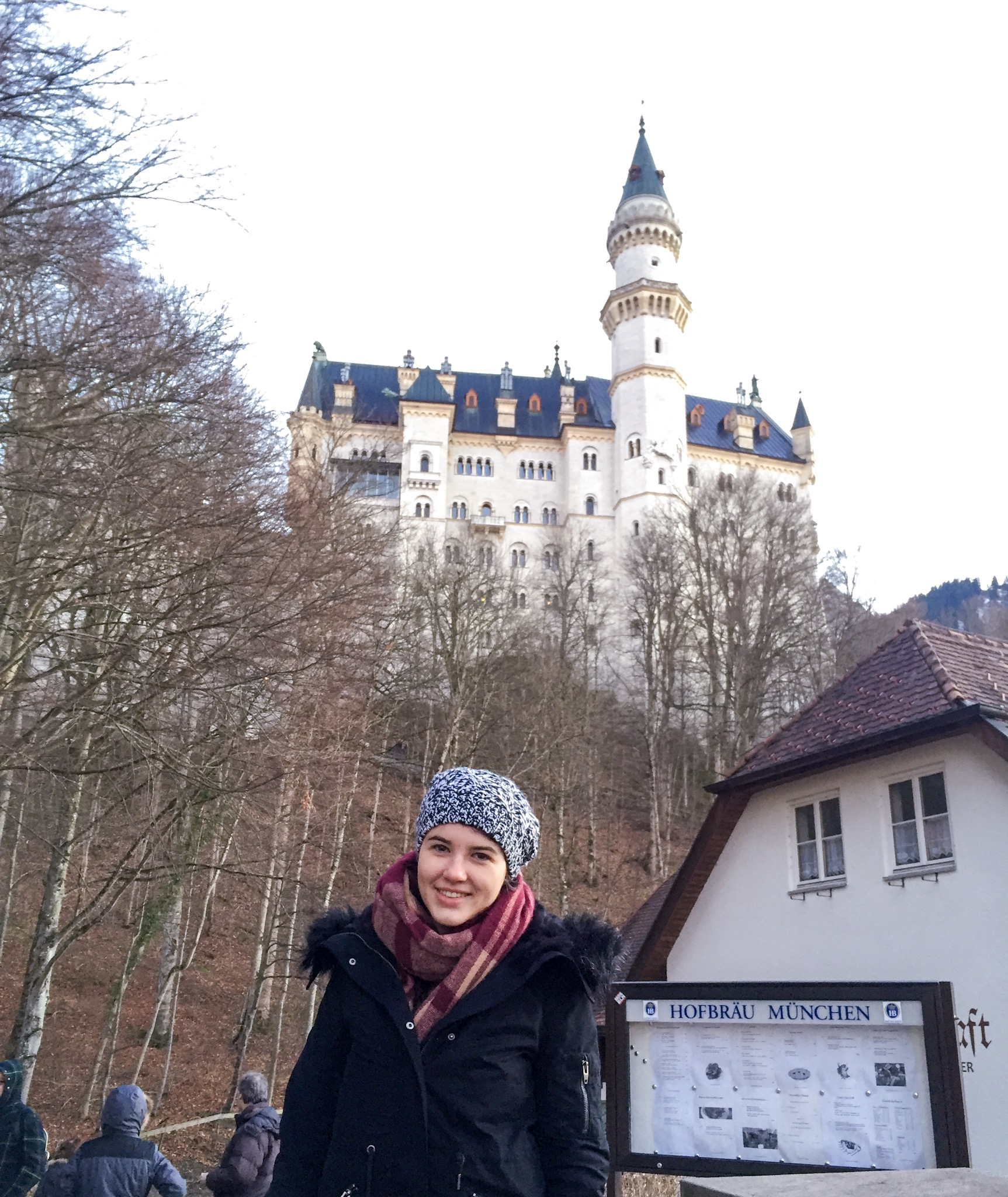 Me standing in front of Neuschwanstein Castle
