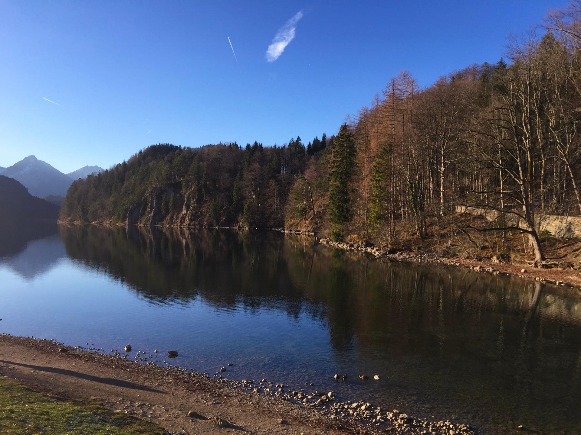 Beautiful lake in Bavaria, Germany