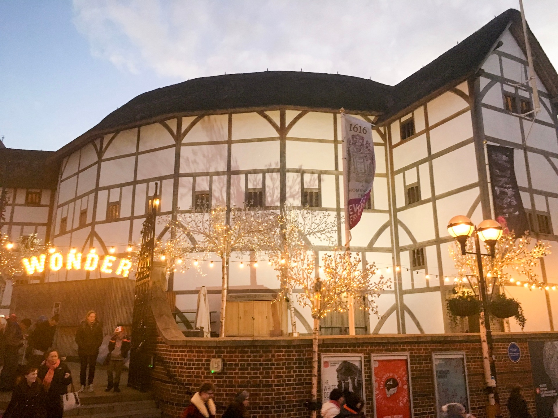Shakespeare's Globe during winter
