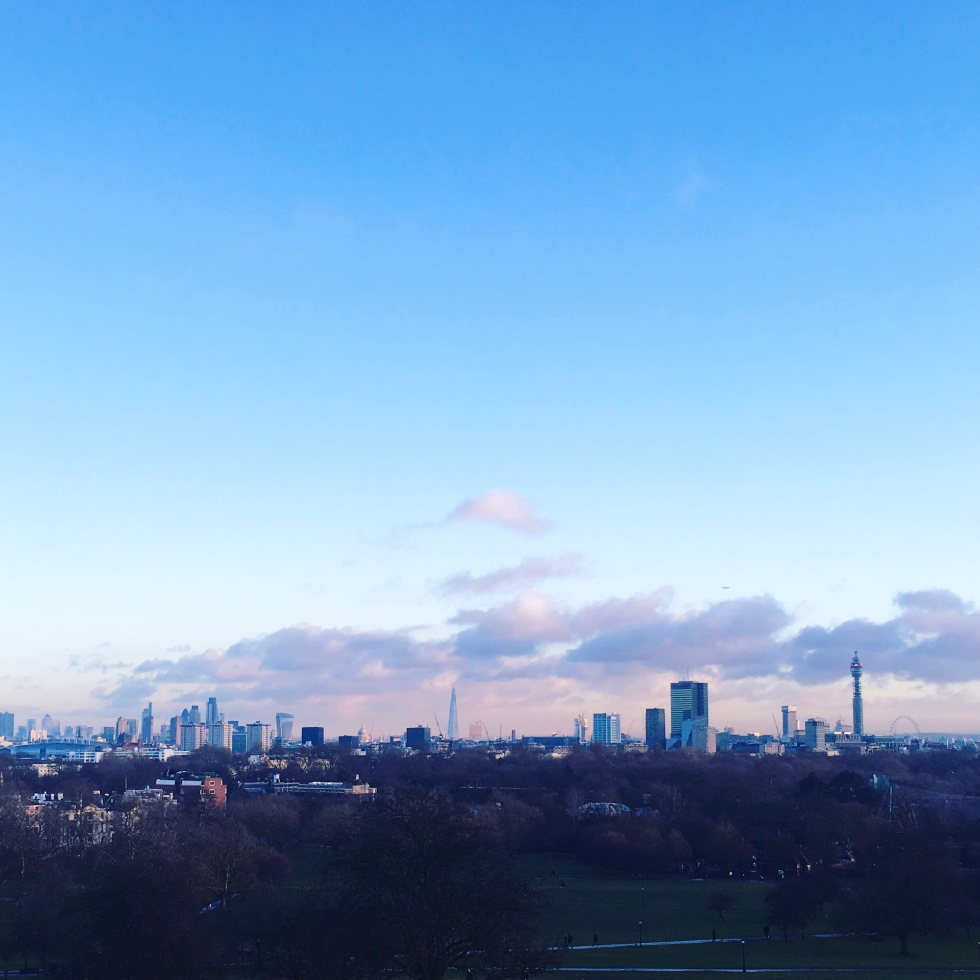 Sunset at Primrose Hill, London