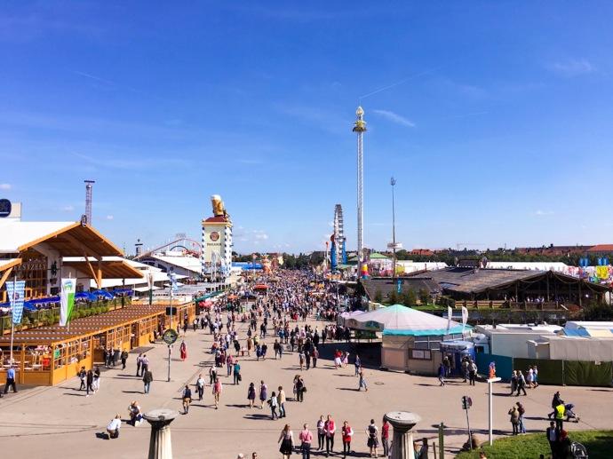 Sunny days at Oktoberfest, Munich
