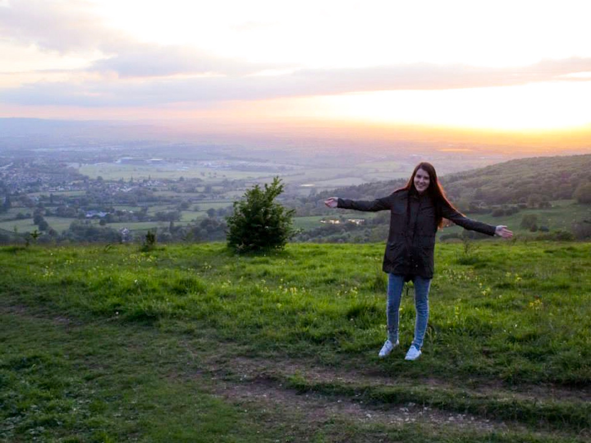 Sunset from Cleeve Hill, Cotswolds, England