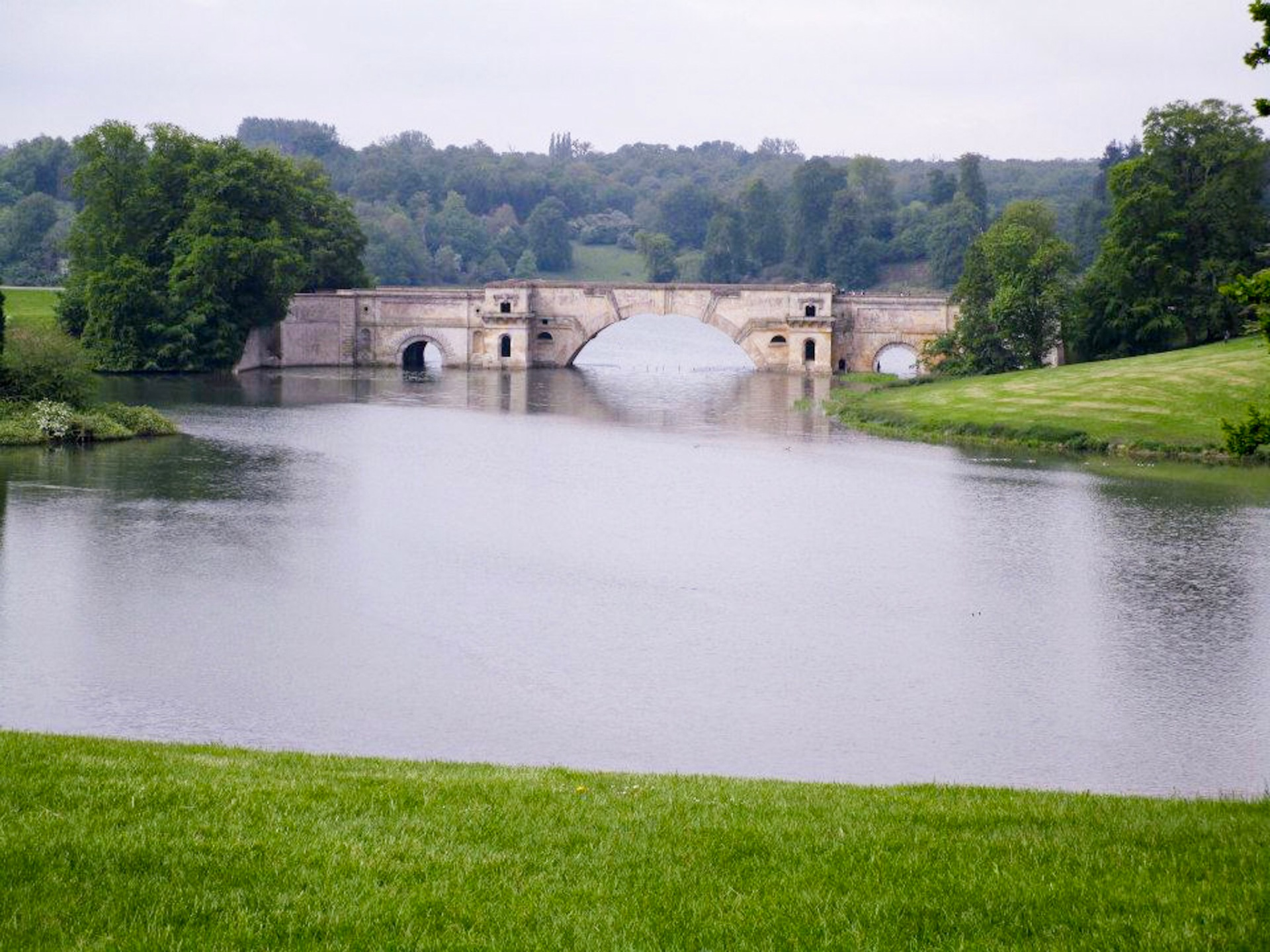Lake at Blenheim palace