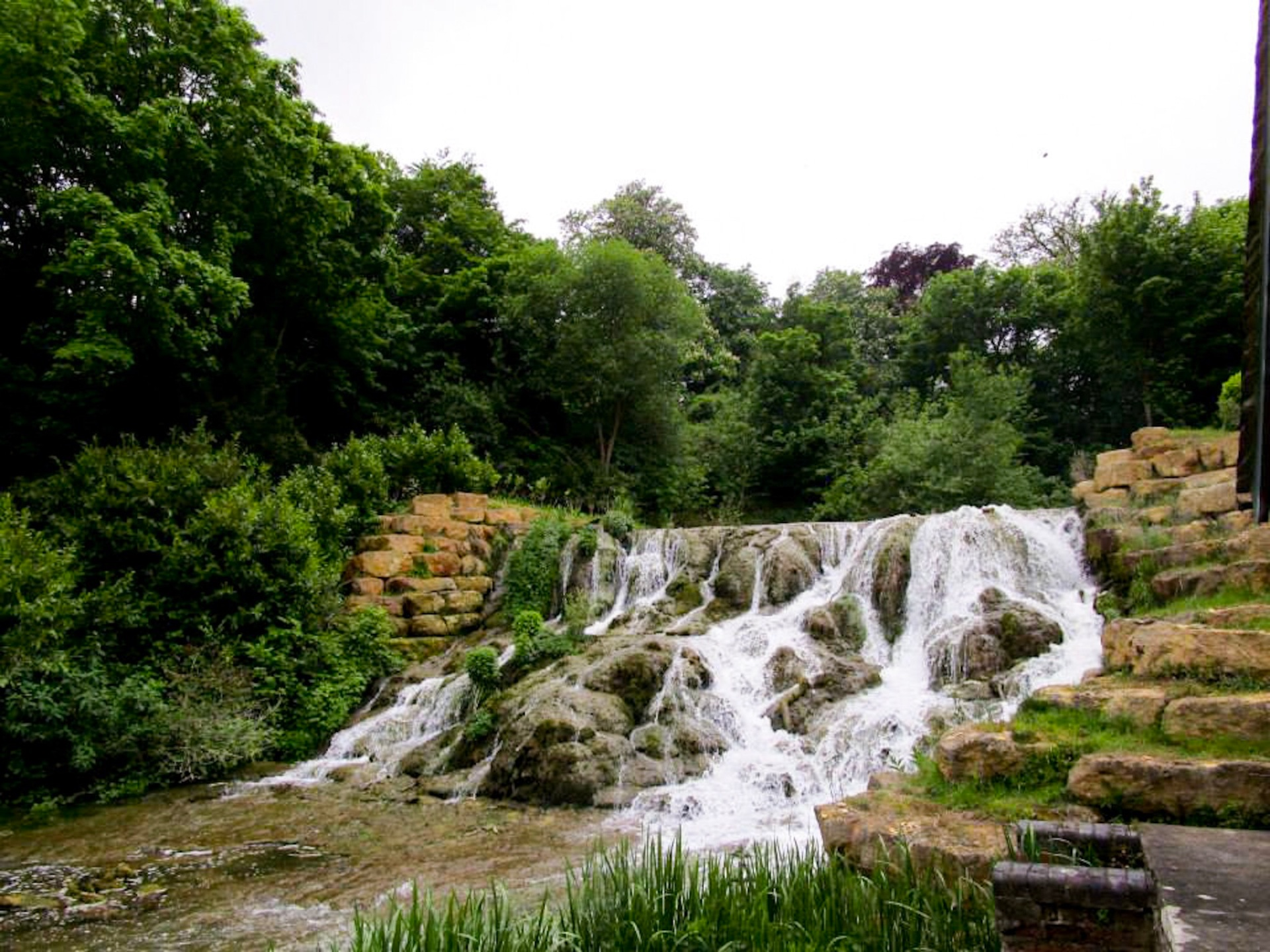 Waterfall at Blenheim palace