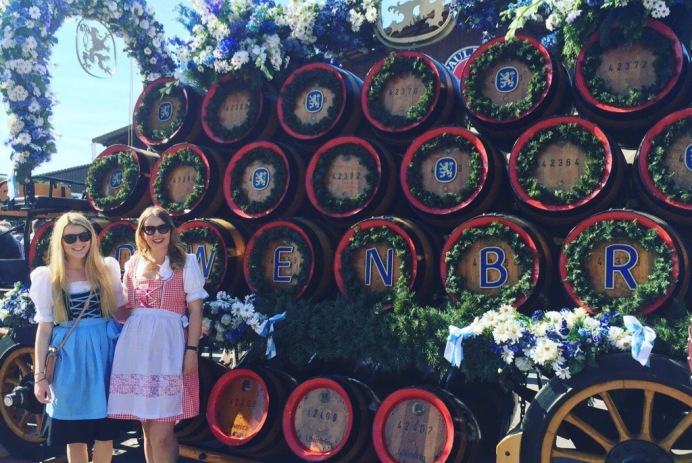 Wearing Dirndl at Oktoberfest