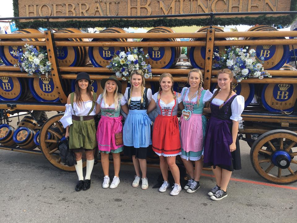 Girls in dirndls at Oktoberfest, Munich