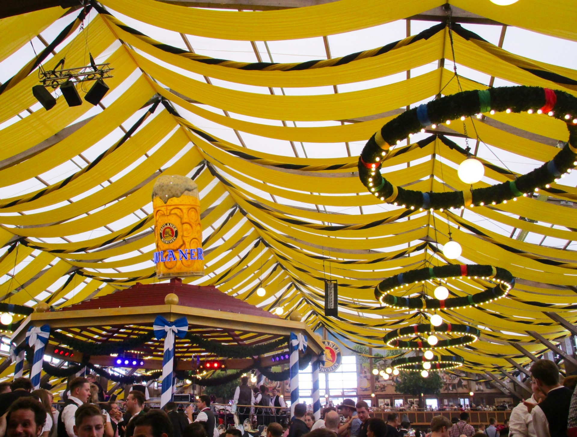 Inside the Paulaner beer tent, Oktoberfest, Munich