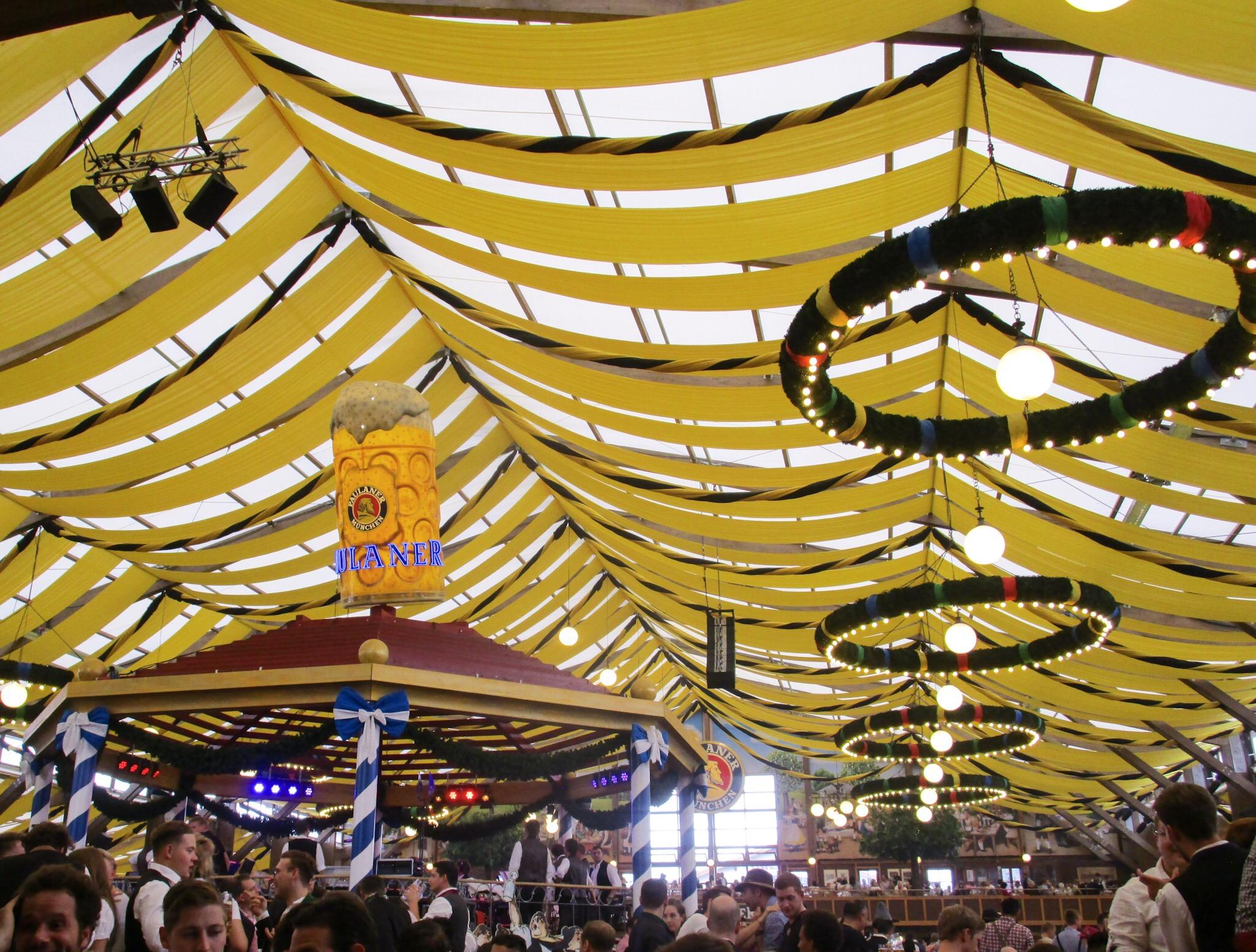 Inside the Paulaner beer tent Oktoberfest Munich & Top 5 tents at Oktoberfest. u2013 ellekirks