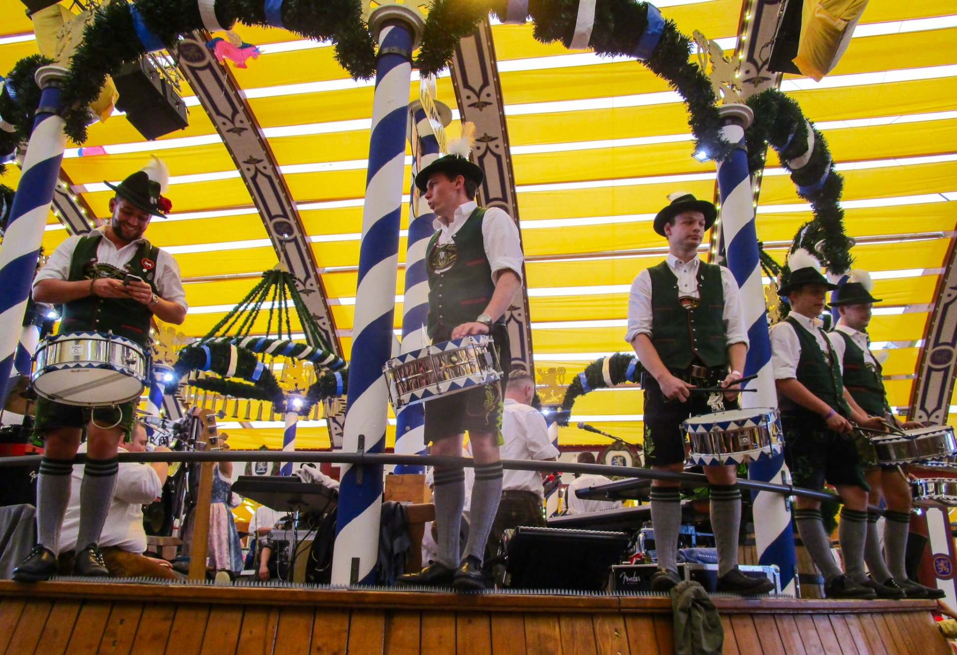 The band in the Löwenbräu tent, Munich
