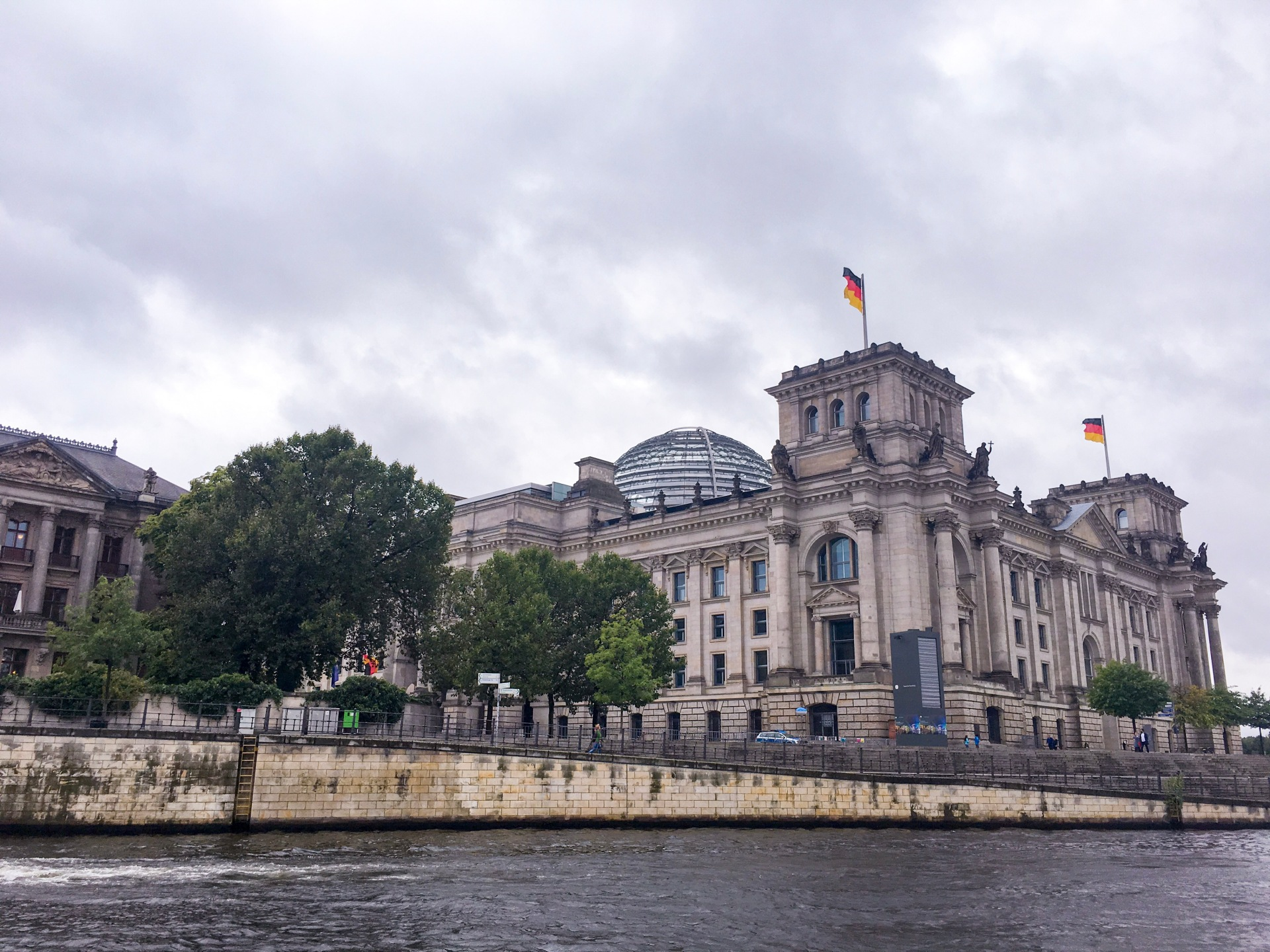 View of Bundestag over River Spree