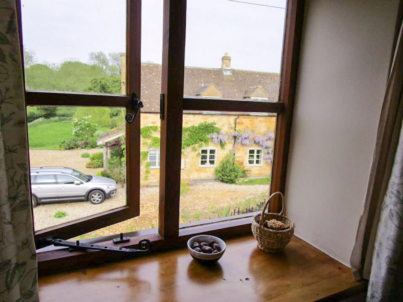 View from our room at Bran Mill cottage