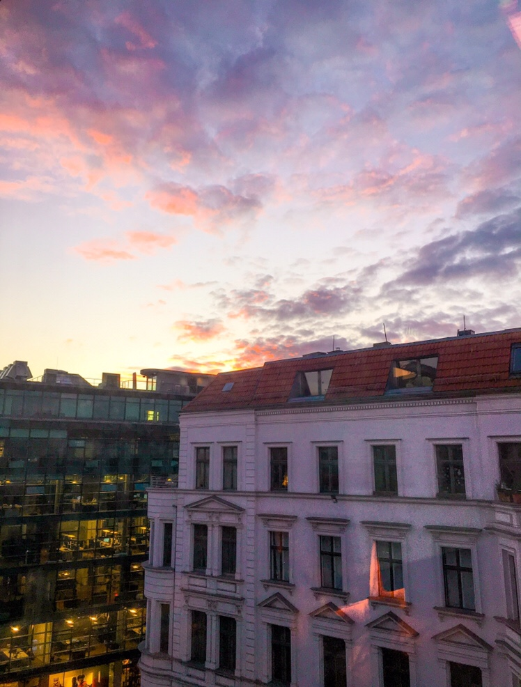 sunset in mitte, Berlin