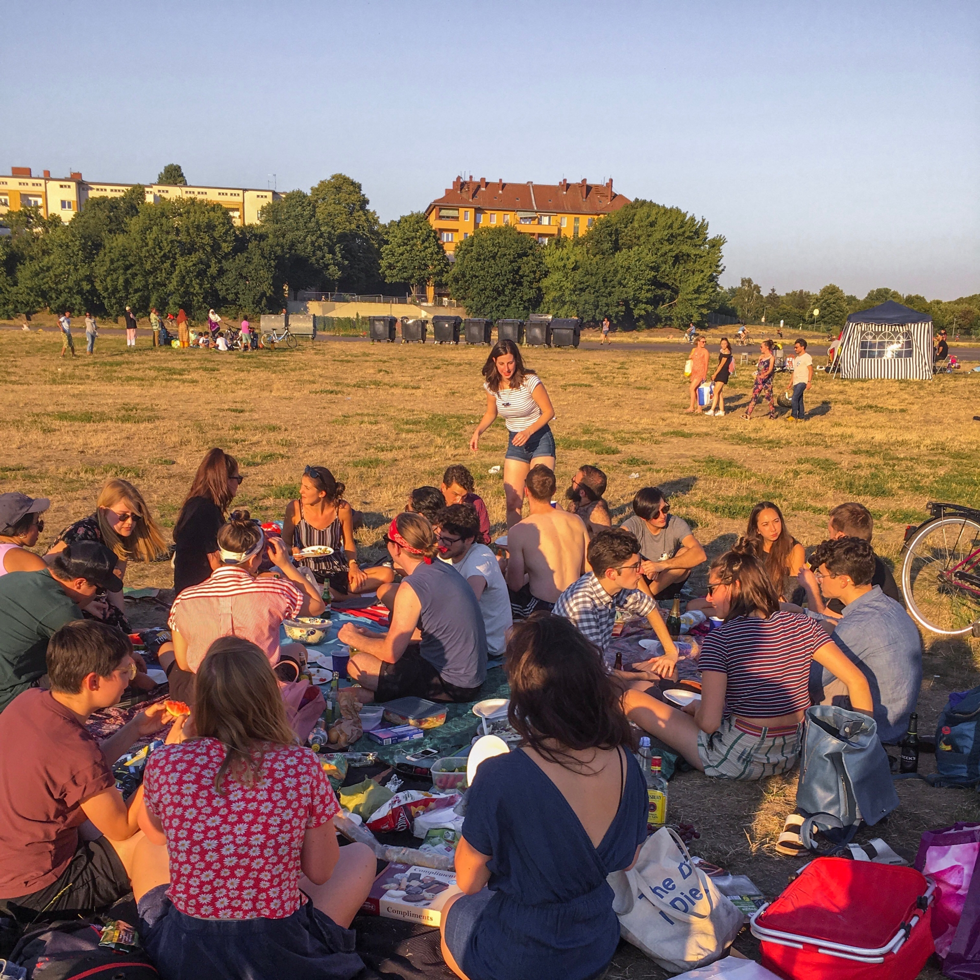 Picnic at Tempelhofer Feld in Berlin